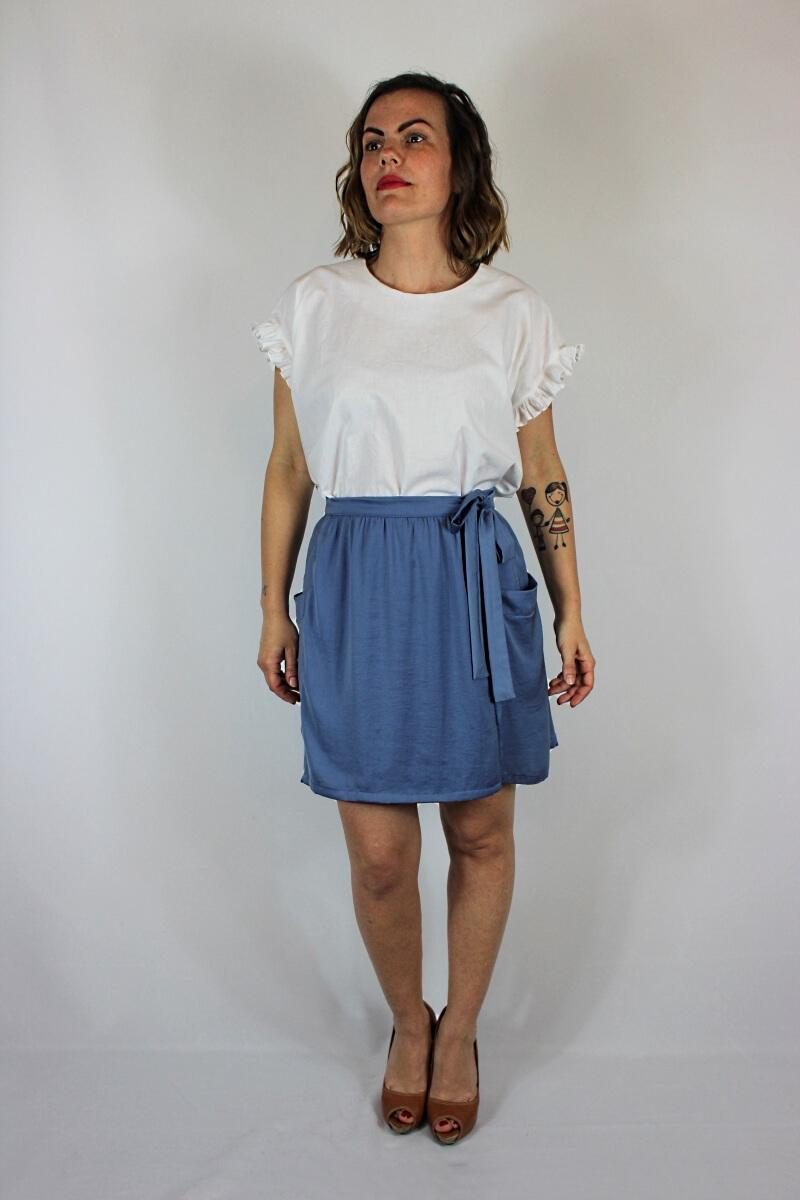 Modèle de jupe portefeuille Leda